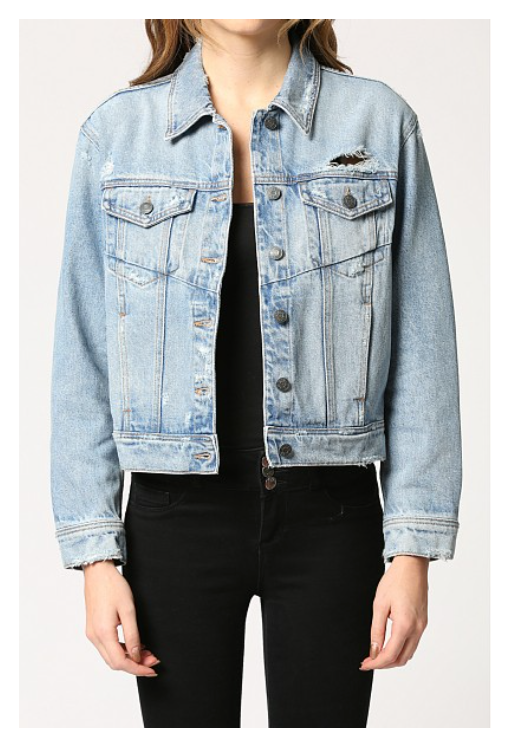 Rebel Trucker Jacket | Light Wash