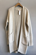 Open Front Pocket Cardigan