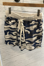 Loose Fit Camo Shorts | Grey/Navy