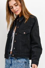 Classic Denim Jacket | Washed Black