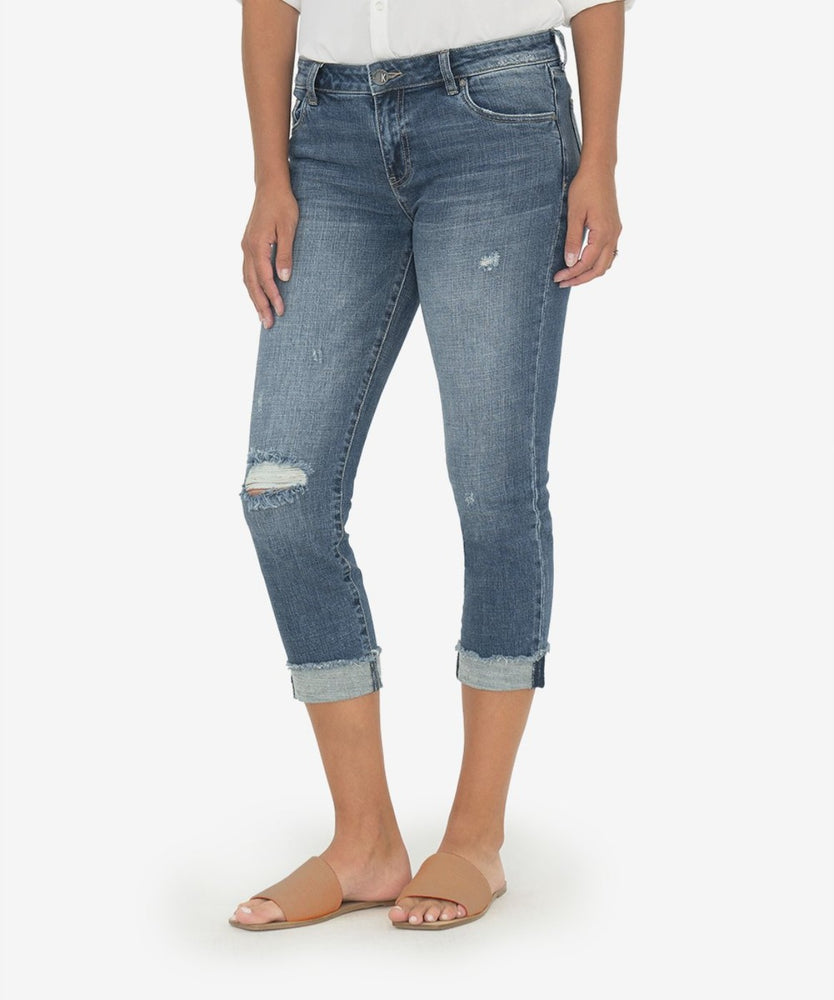 Amy Crop Straight Leg | Bubbly Wash