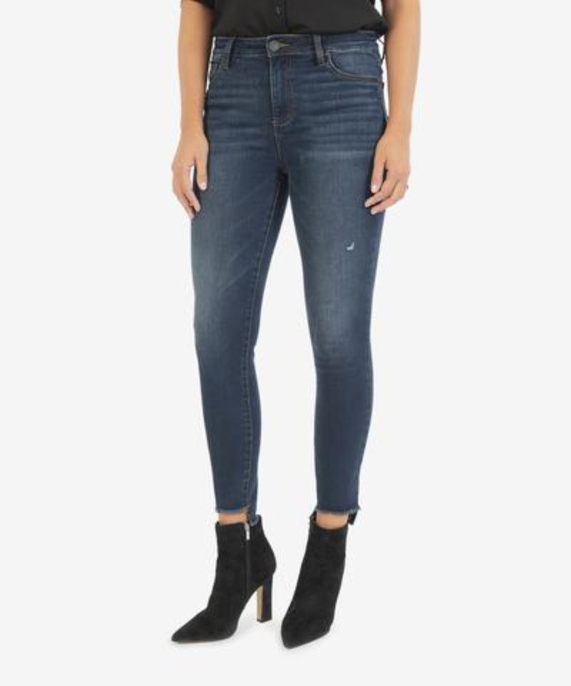 Connie High Rise Ankle Skinny | Budding