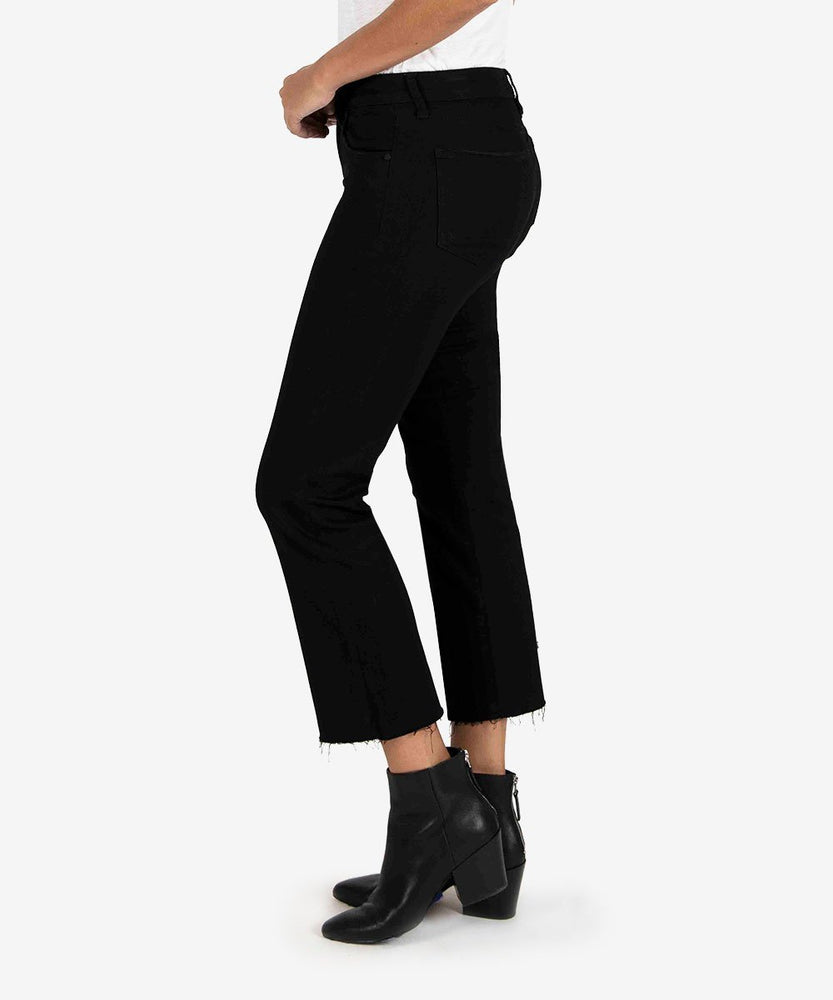 Kelsey High Rise Ankle Flare | Black