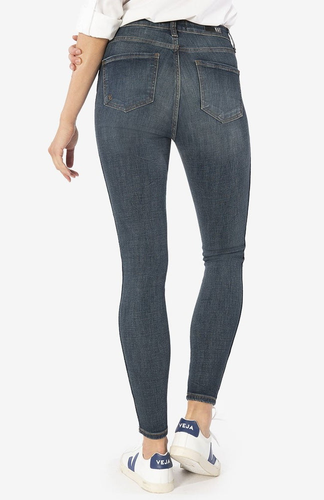 Donna High Rise Fab AB Ankle Skinny Jeans | Bright Wash