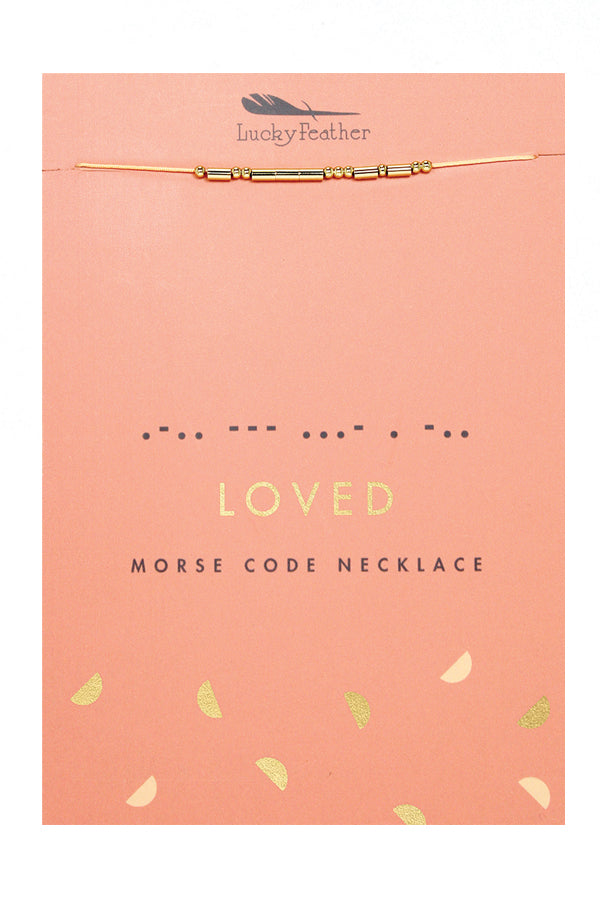 Morse Code Necklace | Loved