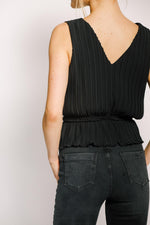 Pleated Top | Black