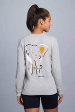 Oria Elephant Shapes Long Sleeve Tee