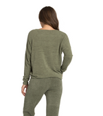 Cozy Chic Ultra Lite Slouchy Pullover | Olive