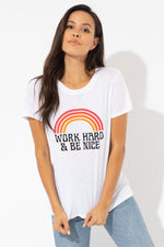 Work Hard Rainbow Loose Tee