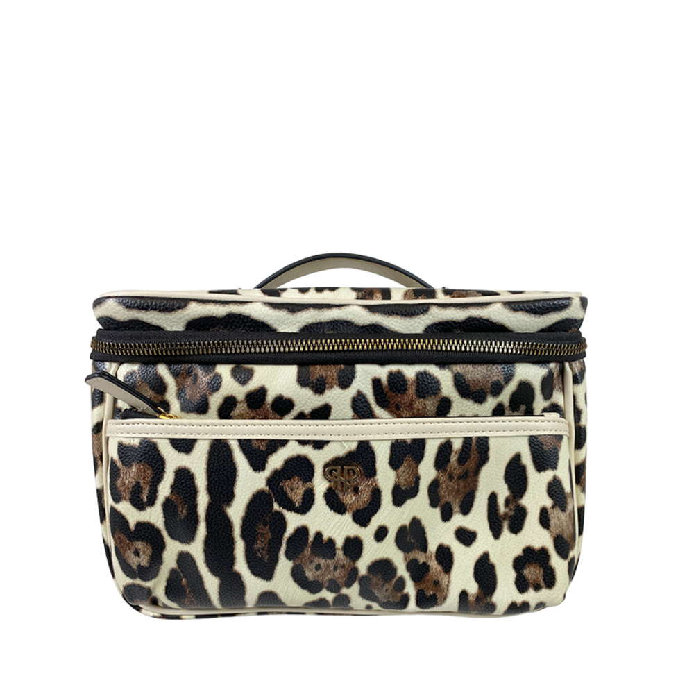 Getaway Classic Train Case | Cream Leopard