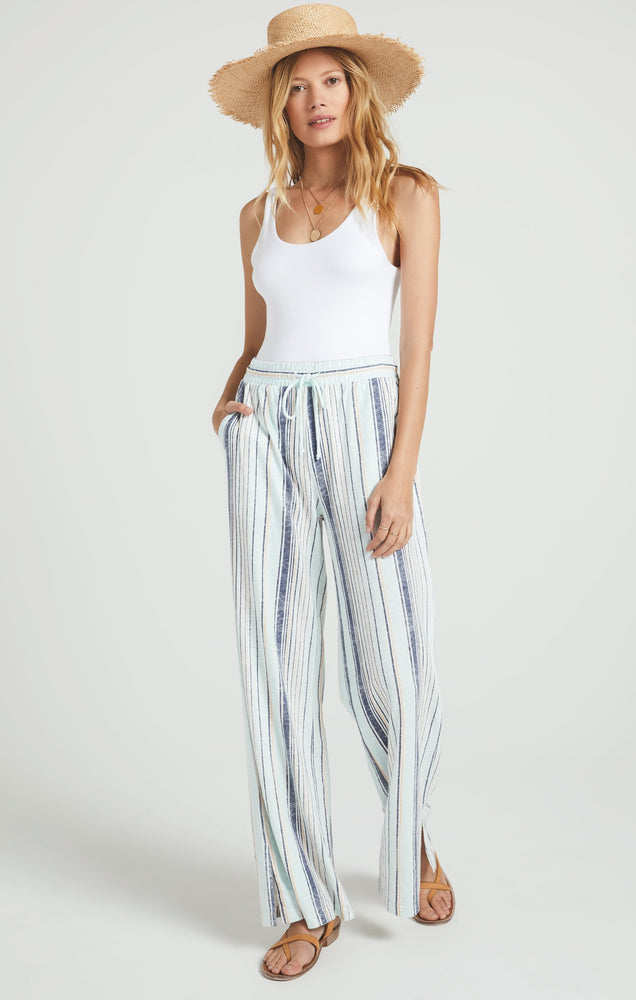Hana Stripe Pants | Aqua Reef