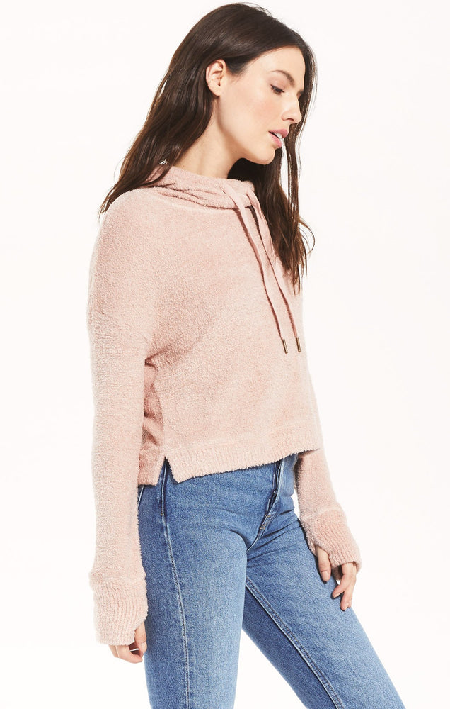 Kacey Feather Hoodie | Silver Pink