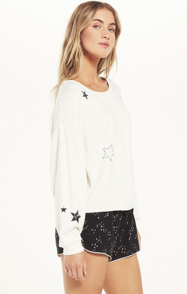 Night Owl Starry Sweatshirt | Charcoal