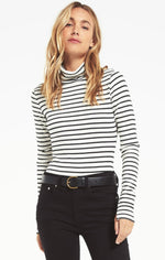 Chloe Striped Ribbed Bodysuit