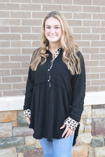 Animal Print Button Front Tunic Dress
