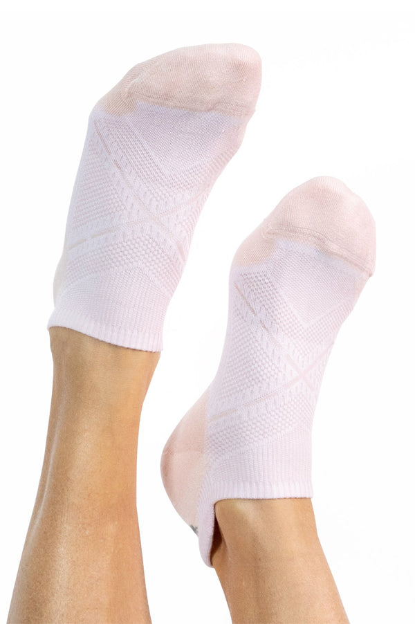 Bamboo Ankle Socks | White Pink
