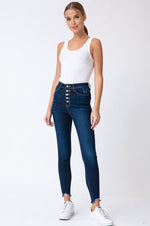 Ashley High Rise Super Skinny Jeans | Dark