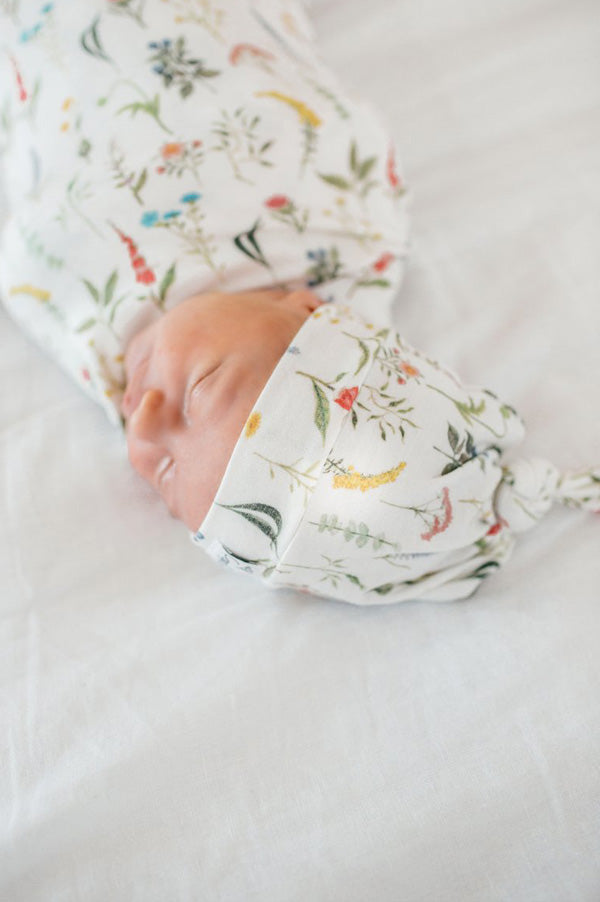 Newborn Top Knot Hat | Aspen