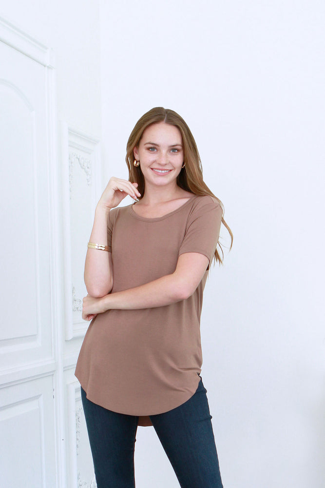 Julie Crew Neck Tee | Toffee