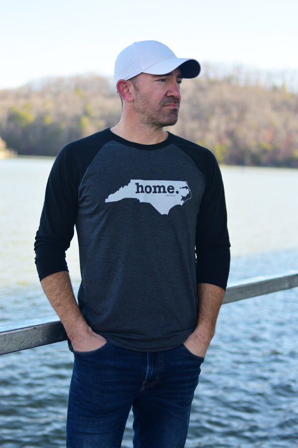 North Carolina Home Baseball Tee | Dark Grey/Black
