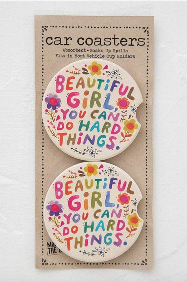 Car Coaster Set of 2 | Beautiful Girl