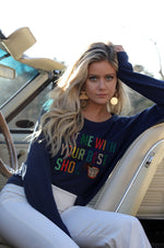 Hit Me With Your Best Shot Sweater | Navy