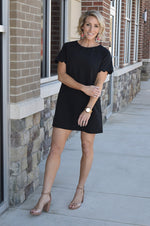 Puff Sleeved Dress | Black