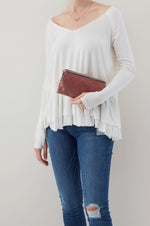 Lauren Clutch Wallet | Burnished Rose