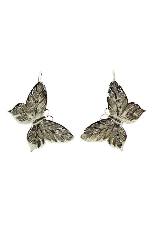 Butterfly Earrings | Silver