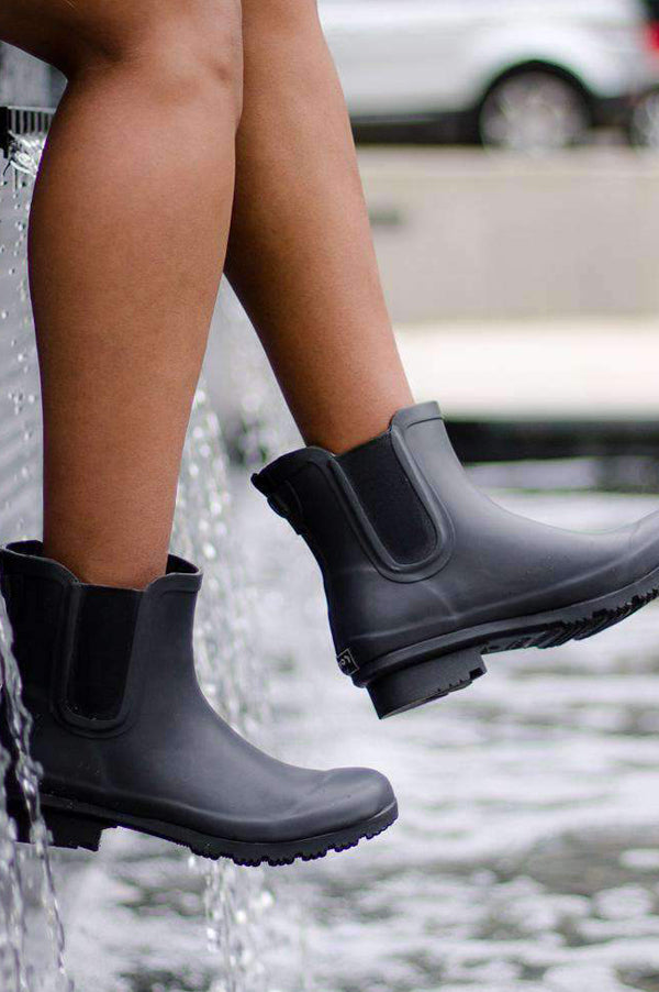 Chelsea Ankle Rain Boots | Charcoal