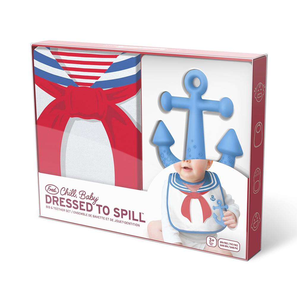 Dressed to Spill Bib Set | Sailor