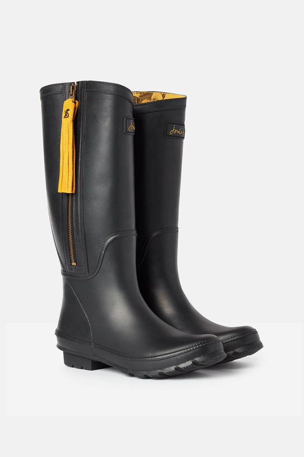 Collette True Black Rain Boots