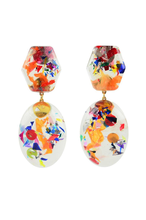 Confetti Drop Earrings | Warm