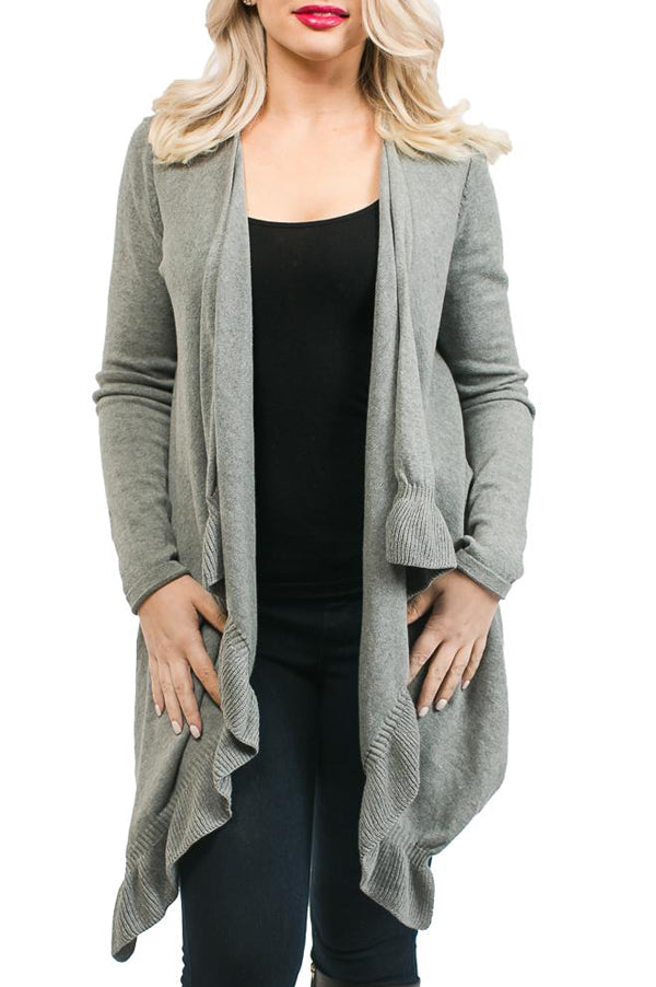 Ellie Cardigan Sweater | Dark Grey