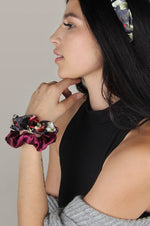 Scrunchie 2 Pack | Magenta Dark Floral