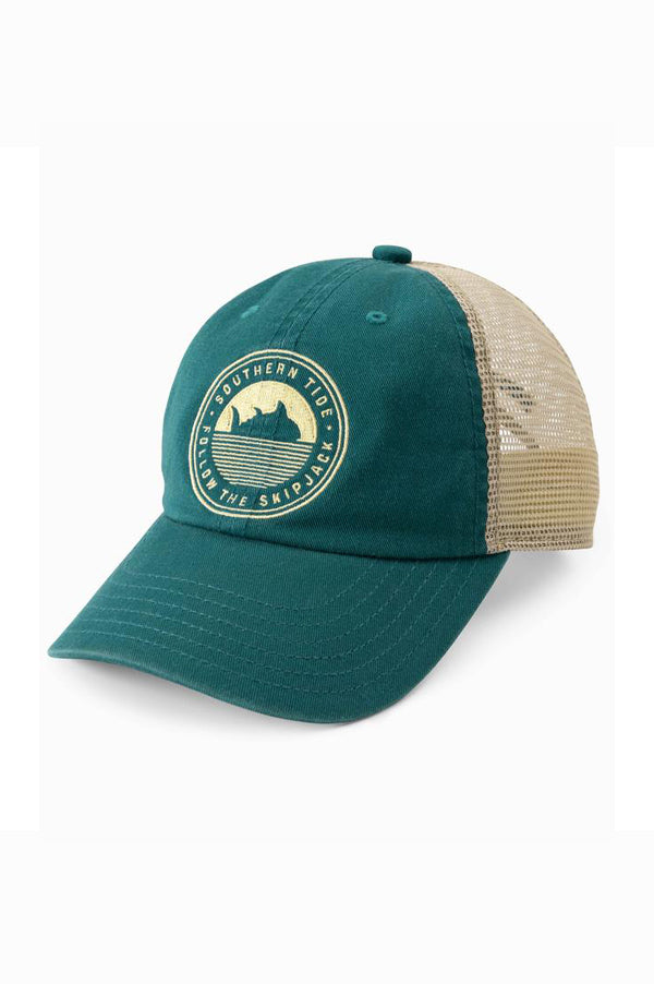 Youth Follow The Skipjack Trucker Hat | Dark Teal