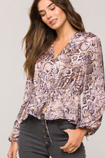Delaware Top | Brown Snake Swirl