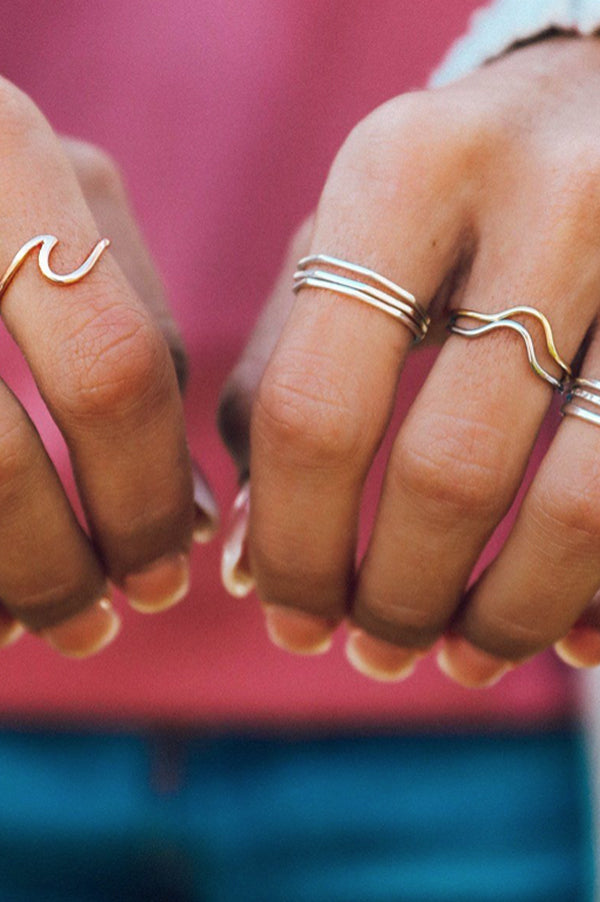 Delicate Stacked Rings | Gold