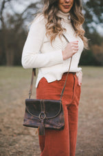 Delta Leather Crossbody | Chocolate Brown