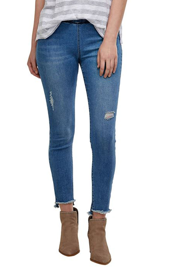 Max Distressed Denim Leggings | Blue