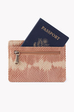 Euro Slide Leather Credit Card Wallet | Desert Tie Dye