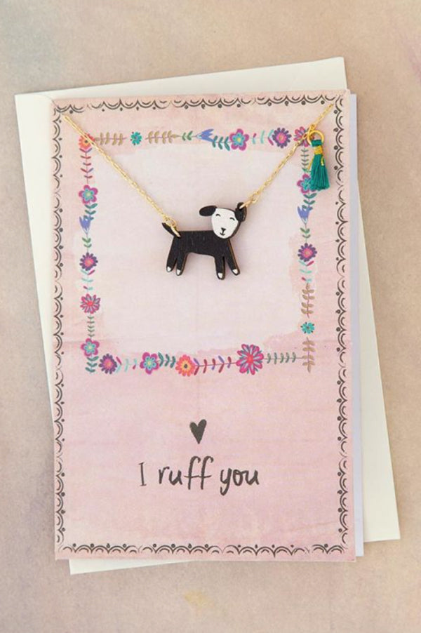 Necklace Greeting Card | Dog