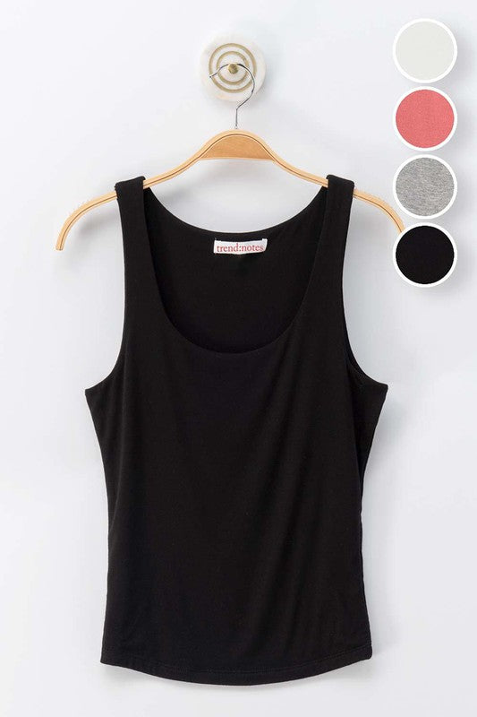 Double Layer tank Top | Black