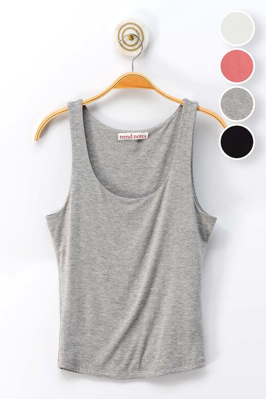 Double Layer tank Top | Grey