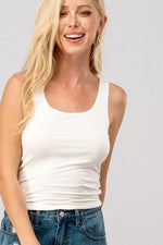 Double Layer tank Top | Ivory