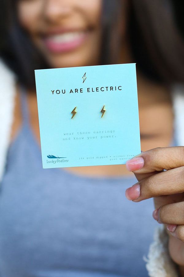New Moon Stud Earrings | Electric