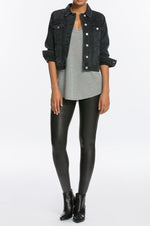 Faux Leather Leggings | Black