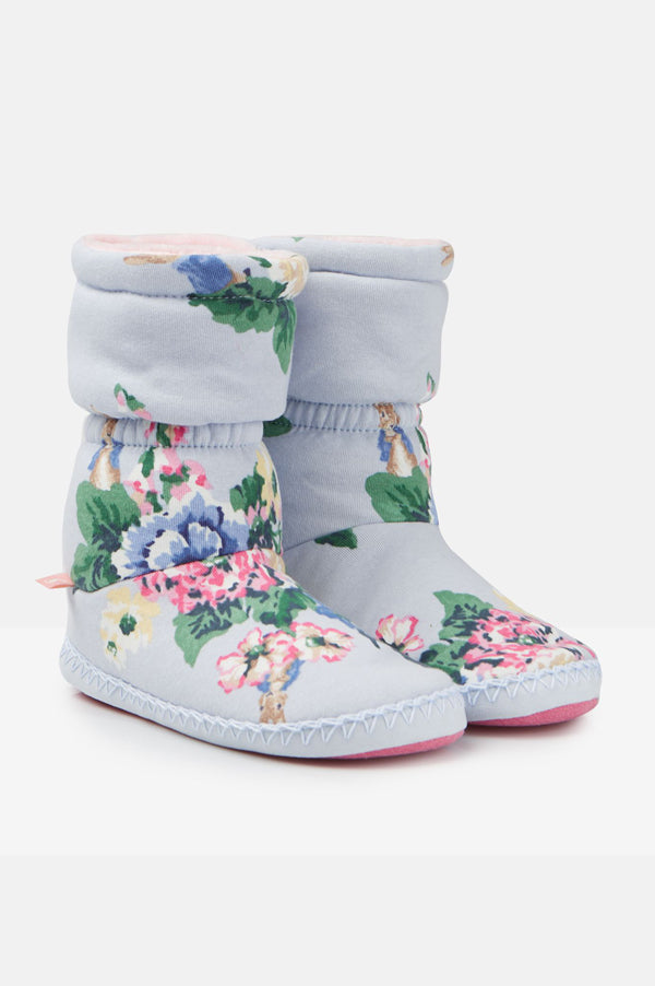 Padabout Slipper Socks | Light Blue Floral