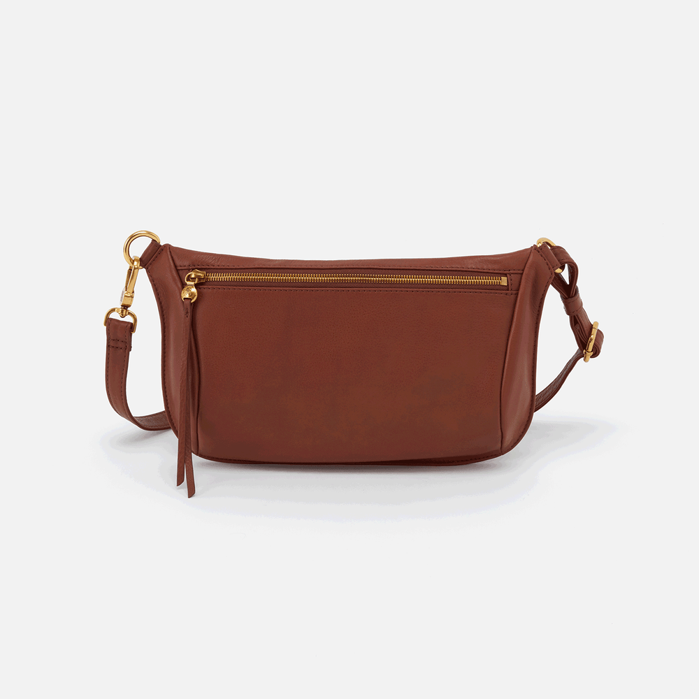 Flywheel Leather Belt Bag | Toffee