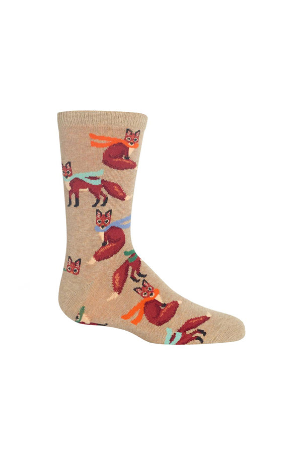 Kids Crew Socks | Foxes